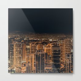 Somewhere in China – City by night Metal Print