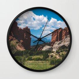 Garden of The Gods Wall Clock
