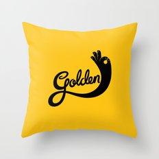 Golden! Throw Pillow