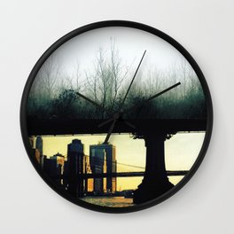 Architecture of Impossible_Green New York Wall Clock