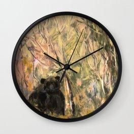 My Curious & Gentle Bear Wall Clock