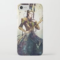 loki iPhone & iPod Cases featuring Loki by Mony