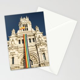 Building With LGBT Pride Flag Stationery Cards
