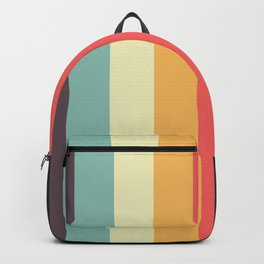 Minimal Classic Rainbow Retro Stripes - Tipua Backpack