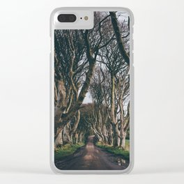 Dark Hedges Clear iPhone Case