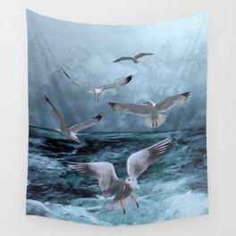 Gulls' Banquet Wall Tapestry