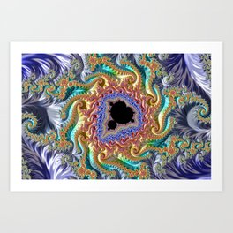 Colorful Slopes Mandelbrot Fractal Art Print
