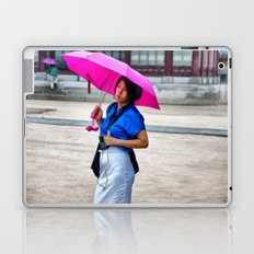Korean Woman in the Rain Laptop & iPad Skin