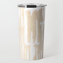 White Gold Sands Bamboo Stripes Travel Mug