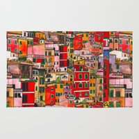 italy Area & Throw Rugs featuring Manarola, Italy  by Marcella Wylie