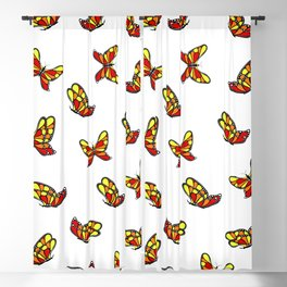 Multicolored butterflys Blackout Curtain