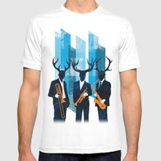 Horn Section Mens Fitted Tee White MEDIUM