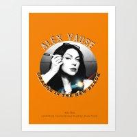 alex vause Art Prints featuring Alex Vause - OITNB Character by Sandi Panda