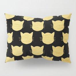 Golden Cats Pillow Sham