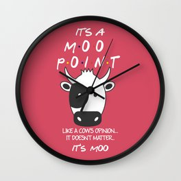 It's Moo! - Friends TV Show Wall Clock