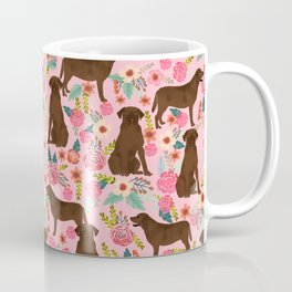 Chocolate Labrador Retriever dog floral gifts must haves chocolate lab lover Coffee Mug