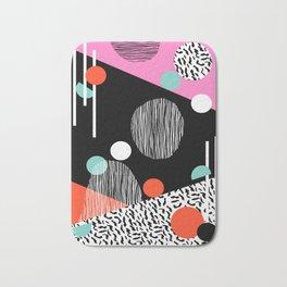 Mega Bulk - 80s style throwback retro pattern art memphis grid pattern minimalist 1980's Bath Mat