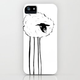 Creepy Sheep iPhone Case