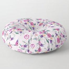 Pansy Purple on Ballerina Pink Floor Pillow