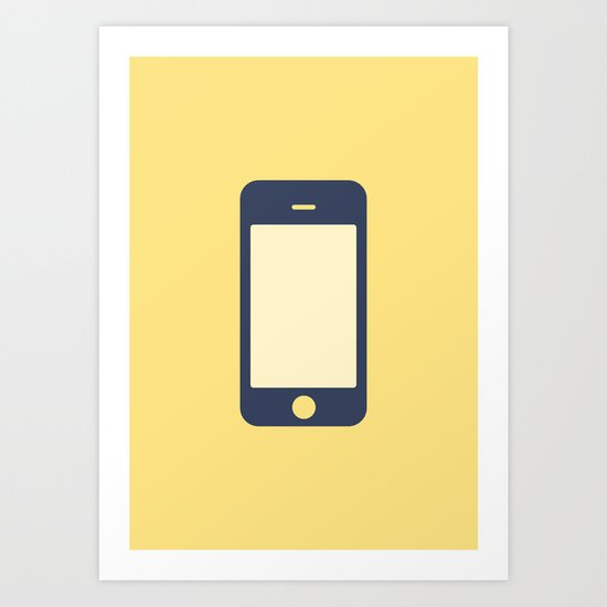#12 iPhone Art Print