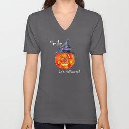 Smile, it's Halloween! Unisex V-Neck