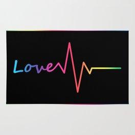Rainbow Love Heartbeat Rug