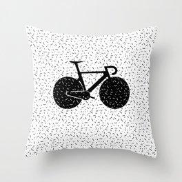 Track Bike Throw Pillow