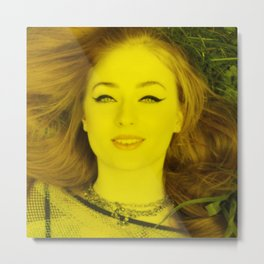 Sophie Turner - Celebrity (Florescent Color Technique) Metal Print