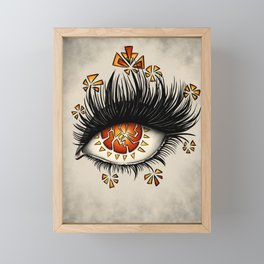 Weird Eye Of Fractured Lava | Digital Art Framed Mini Art Print