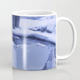 Ice Floes Crash And Creep At Edge Of The Otonabee River. Coffee Mug