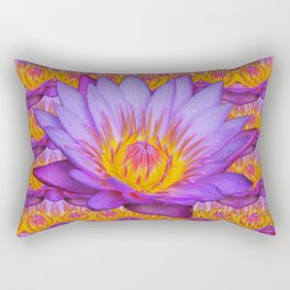 Nymphaea violacea - Amazonian Flower Rectangular Pillow