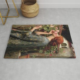 John William Waterhouse, My Sweet Rose, 1908 Rug