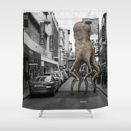 Unseen Monsters of Melbourne - Wabi Goons Milky Shower Curtain