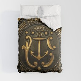 Rhode Island and Providence Plantations Hope and Anchor bronze state seal art portrait Comforters