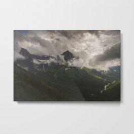 Mount Oberlin and Bird Woman Falls, Glacier National Park Metal Print
