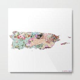 Puerto Rico map Metal Print