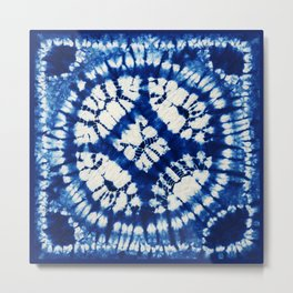 South Seas Samoa Shibori Tie Dye Metal Print