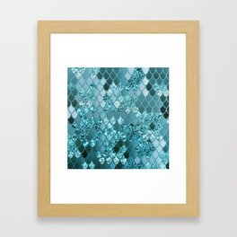 Mermaid Glitter Scales #4 #shiny #decor #art #society6 Framed Art Print