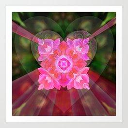 Heart Bubble Art Print