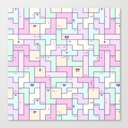 Kawaii Tetris Canvas Print