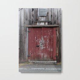 Red Barn Door Metal Print