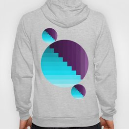 Ups and Down   Deep Within   Purple   Blue   Turquoise Hoody