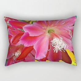 Fuchsia Pink Orchid Cacti Flower Rectangular Pillow
