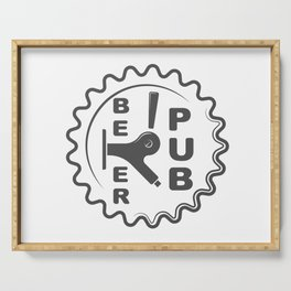 Beer Pub Brewery Handcrafted style Fashion Modern Design Print! Serving Tray