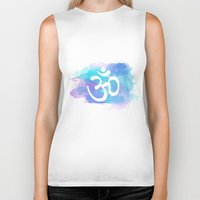 om Biker Tanks featuring Om by Ashley Hillman
