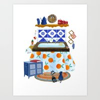 Eat Well-Toasted Bread Art Print