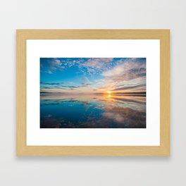 Deer Island Sunrise Framed Art Print