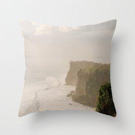 Karang Boma Cliff Bali Throw Pillow