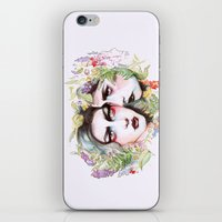 goth iPhone & iPod Skins featuring Spring Goth by Sarah Cannon