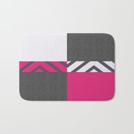 Monochrome Pink Tiles Bath Mat